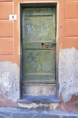Camogli-Old wooden door color image