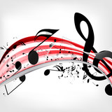 abstract musical background with notes - 53646694