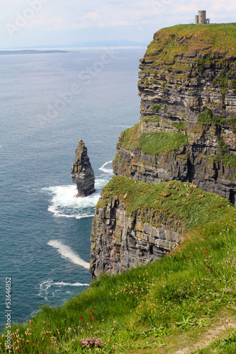 Cliffs of Moher with tower