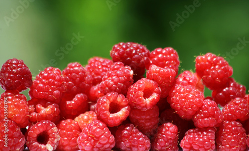 natural raspberries