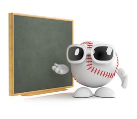 Baseball is teaching strategy at the blackboard