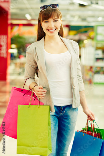 Girl with purchases