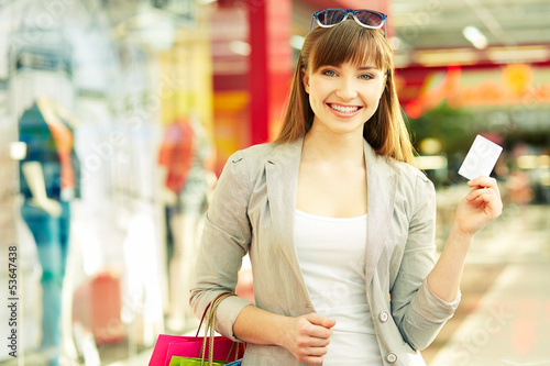 Shopper with credit card