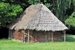 Ancient traditional ukrainian rural wooden barn