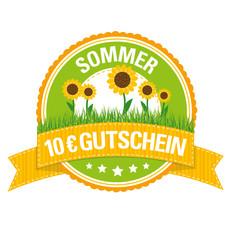 Sommer-Button: 10 € Gutschein