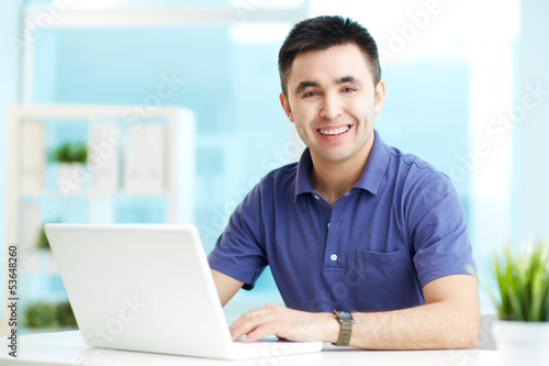 Businessman networking