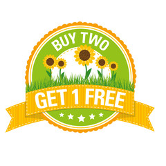 Sommer-Button: buy two – get one free