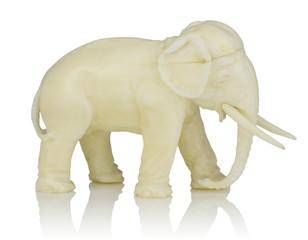 Elefant-Figur aus Elfenbein