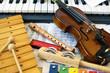 Leinwandbild Motiv Children's instrumens