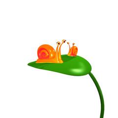 3d rendered Fun snails