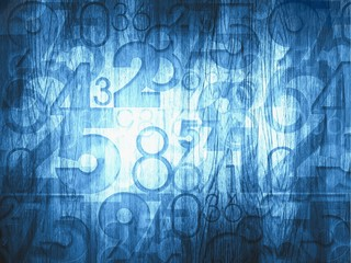 dark blue abstract numbers
