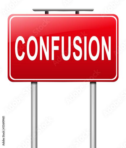 Confusion concept.