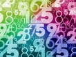 colorful numbers background