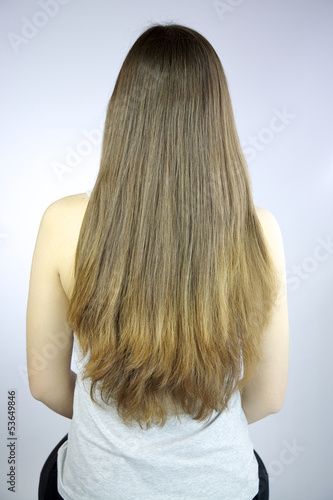 Beautiful long hair freshly cut in layers