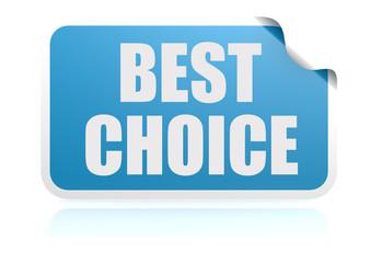 Best choice blue sticker