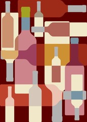 Wine colorful background