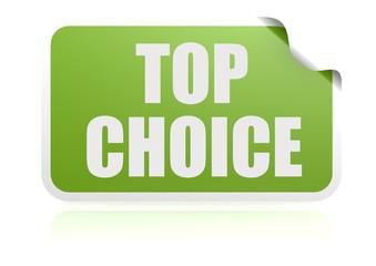 Top choice green sticker