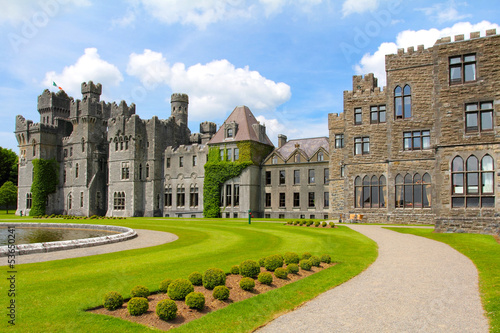 Ashford castle main structure and garden