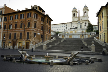 "The ""Spanish Steps"" in Rome, Italy."