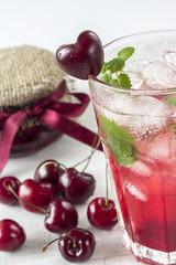 iced cherry mojito