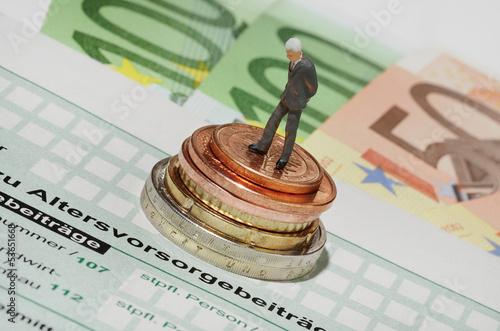 Leinwanddruck Bild Zusatzrente - Sonderausgaben