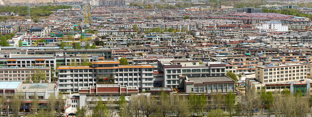 The new downtown of Lhasa
