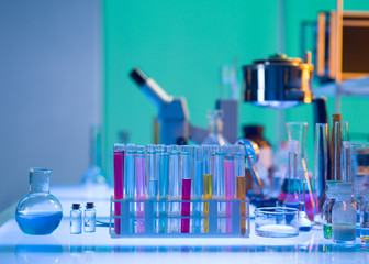 colorful laboratory tools