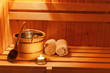 canvas print picture - Wellness und Spa in der Sauna