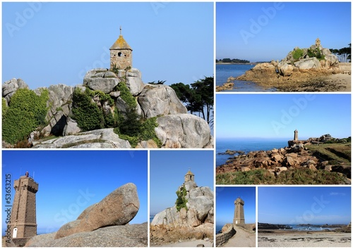 composition photo,tregastel,port-blanc,phare bretagne