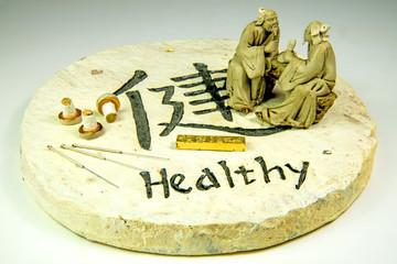 Akupunkturnadeln und Ginseng