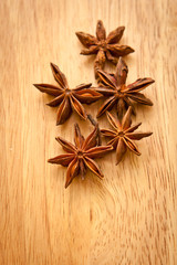 Asterisks anise on the board