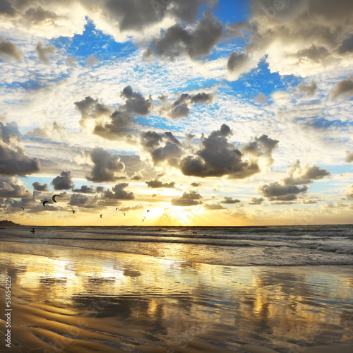 Fototapete mediterranean sunset fototapeten aufkleber - Tapete mediterran ...