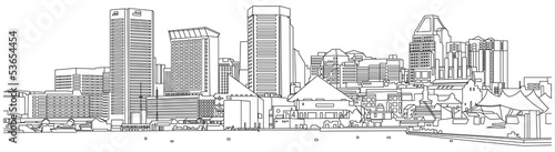 Baltimore-skyline-sketch