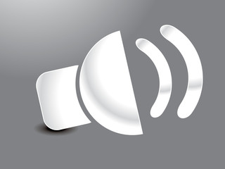 abstract glossy sound icon