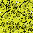 seamless pattern retro children's bicycle