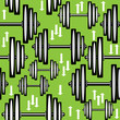.seamless pattern dumbbells on green background