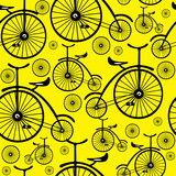 seamless pattern retro bicycle