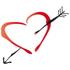 Herz mit Pfeil - Liebe