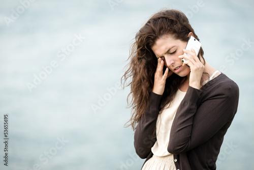 Bad sad news by phone