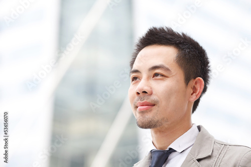 Asian business man in business center