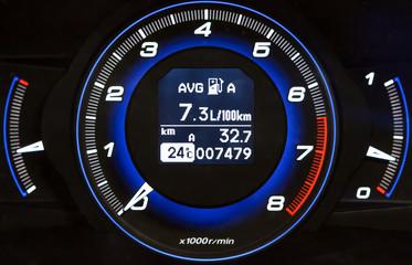 Blue and black high-tech dashboard