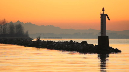 Navigation Marker Steveston Harbor Dawn