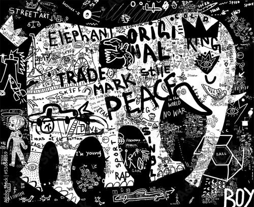 Fototapeten,elefant,tier,inscription,fonts