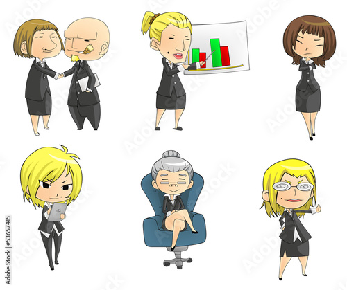 SD businesswomen collection set