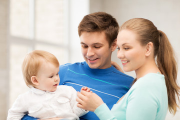 happy family with adorable baby