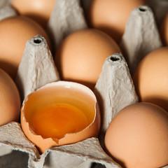 aufgeschlagenes Ei quadratisch