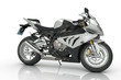 canvas print picture - Silver Sport Bike