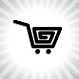 Concept vector graphic- creative online shopping cart symbol(ico