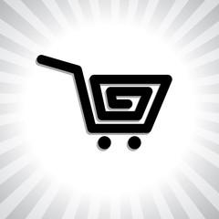 Concept vector graphic- creative online shopping cart symbol(ico