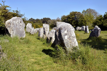 Standing stones at Erdeven in France